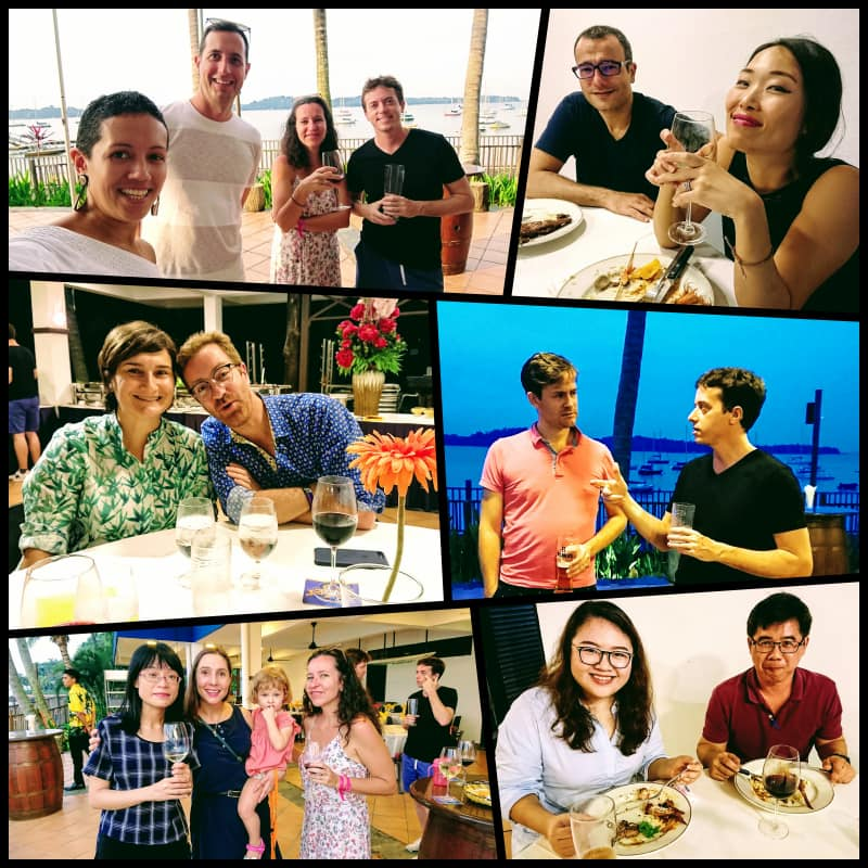 A collage of VES employees enjoying life in Singapore